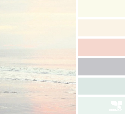 wedding colour palettes pastels beach